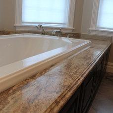 Traditional Bathroom by Living Stone Granite