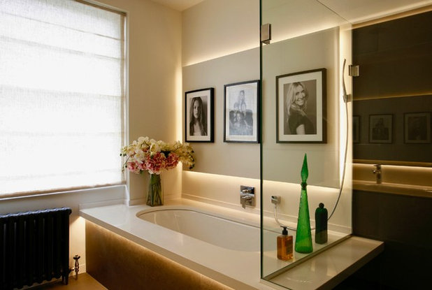 Contemporary Bathroom by Sian Baxter Lighting Design