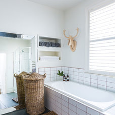 Eclectic Bathroom by Stamp Interiors