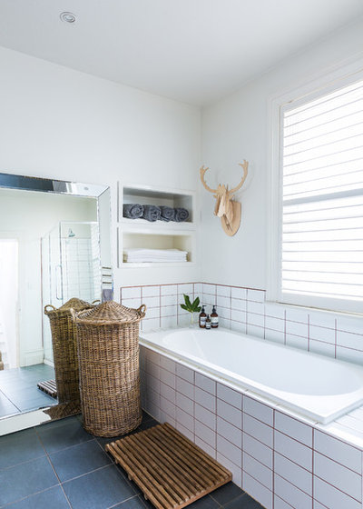 Eclectic Bathroom by Studio Stamp