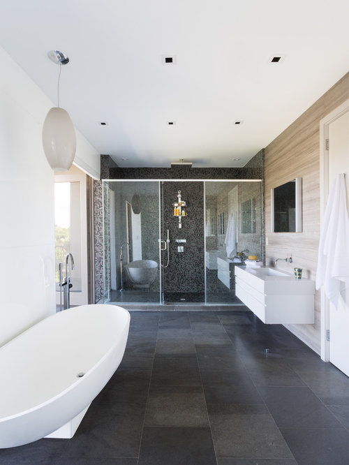 Slate Porcelain Tile Bathroom