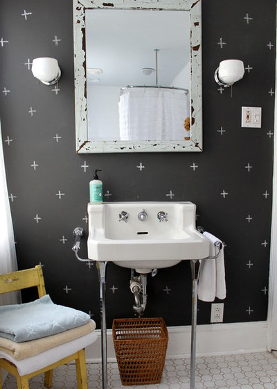 Great Eclectic Bathroom by Sara Bates