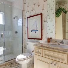 Mediterranean Bathroom by Las Casitas Architecture & Interiors, Inc.