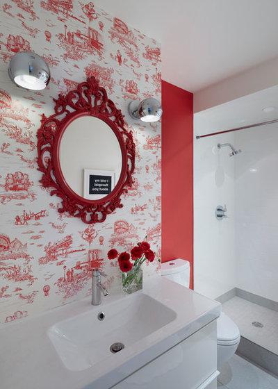 Midcentury Bathroom by Etelamaki Architecture