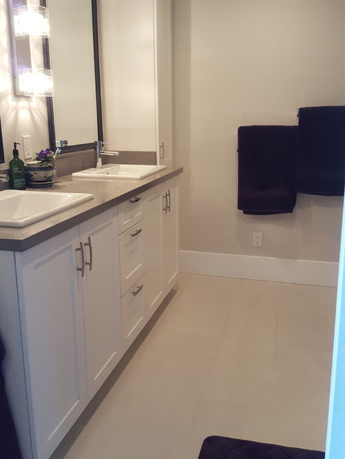 master bathroom in vancouver with shaker cabinets white cabinets