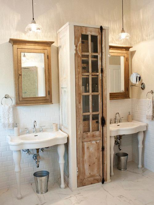 Salle de bain romantique avec un plan vasque : Photos et idées ...