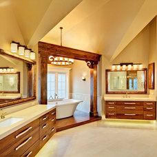 Transitional Bathroom by Southampton Builders