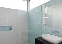 Product or supplier info on blue wall tiles