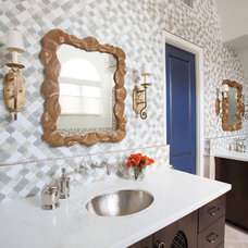 Mediterranean Bathroom by Laura U, Inc.