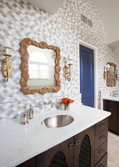 Mediterranean Bathroom by Laura U, Inc.
