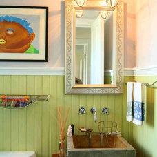 Eclectic Powder Room by Pamela Glazer Architect
