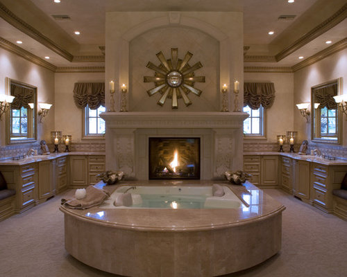 Mediterranean las vegas bathroom design ideas remodels for Mediterranean fireplace designs
