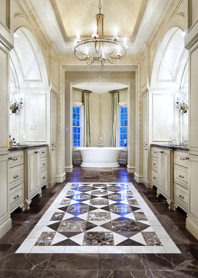 American Traditional Bathroom by JAUREGUI Architecture Interiors Construction
