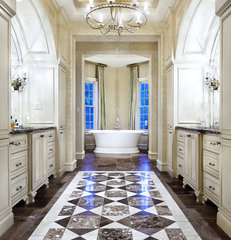 traditional bathroom by JAUREGUI Architecture Interiors Construction