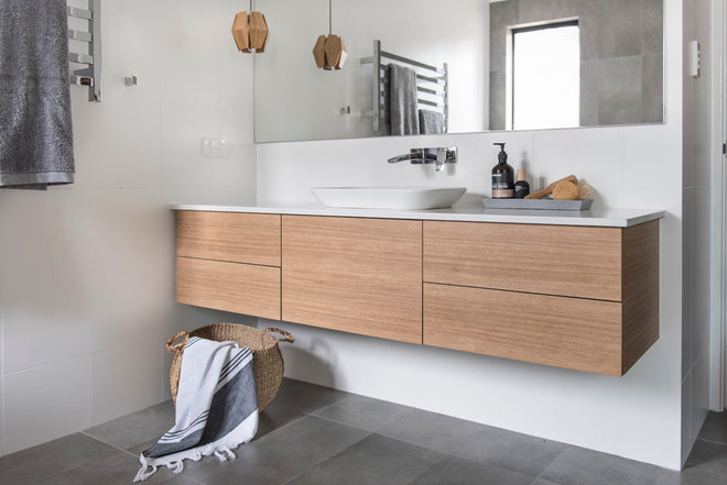 Scandinavian Bathroom by Red Lily Renovations