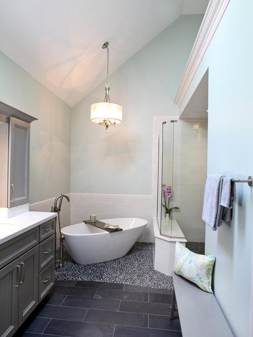 grey bathroom cabinets home design ideas pictures remodel and decor. Black Bedroom Furniture Sets. Home Design Ideas