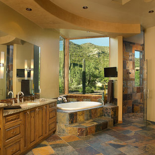 Inspiration for a southwestern bathroom remodel in Phoenix