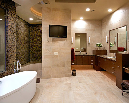 Southwestern Counter Material Granite Bath Design Ideas Pictures Remodel Decor With Beige