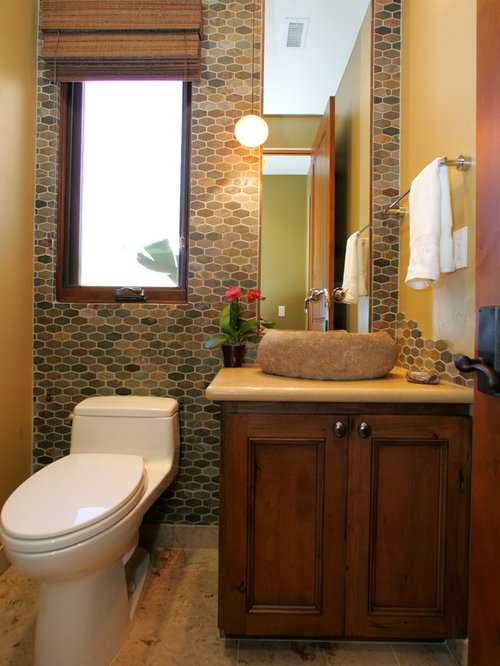 San diego bathroom design ideas renovations photos with brown tiles - Bathroom design san diego ...
