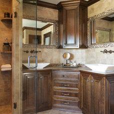 Eclectic Bathroom by Sheila Rich Interiors, LLC