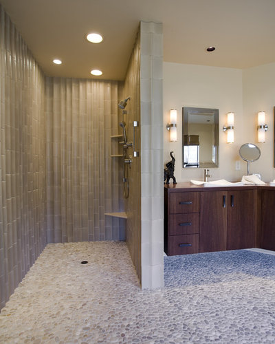 Epic Transitional Bathroom by Kaufman Homes Inc