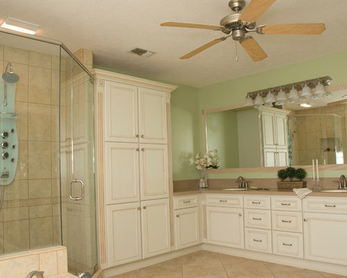 L Shaped Bathroom Home Design Ideas, Pictures, Remodel and Decor