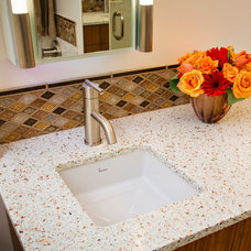 Contemporary Bathroom by Countertop Shoppe and Fisher's Kitchen and Bath
