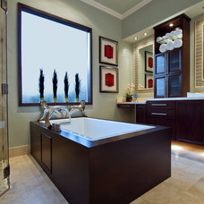 Contemporary Bathroom by Sweetlake Interior Design LLC