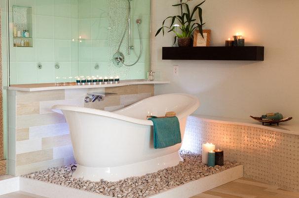 Transitional Bathroom by Kitchen & Bath Design Studio