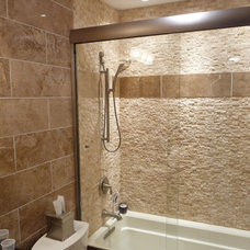 Contemporary Bathroom by StoneMar Natural Stone Company LLC