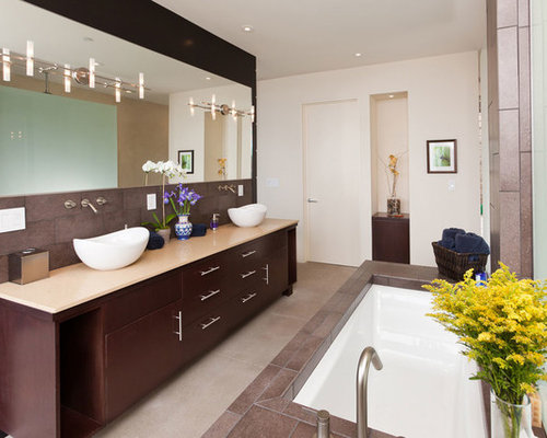 Spa Style Bathroom With Vessel Luxurious Bathtub Vessel Sink – Spa Style Bathroom