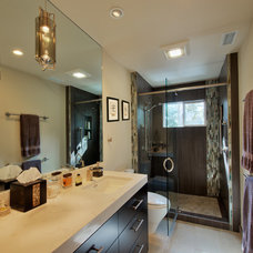 Contemporary Bathroom by A D Construction - Building & Design