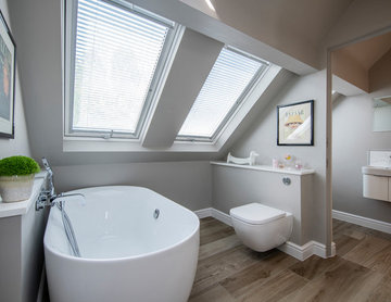 Spa-like bathroom- Surrey Residence