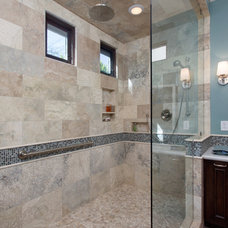 Transitional Bathroom by Hochuli Design & Remodeling Team