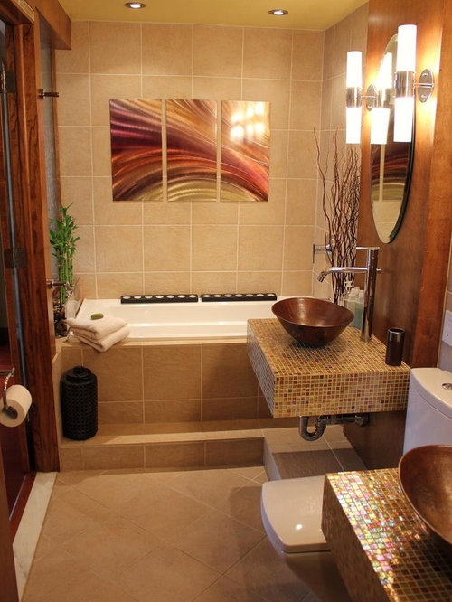 Asian Style Bathroom Decor: Framingham L-shape Campanelli Ranch Makeover