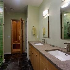 Contemporary Bathroom Spa-like master suite bathroom with sauna