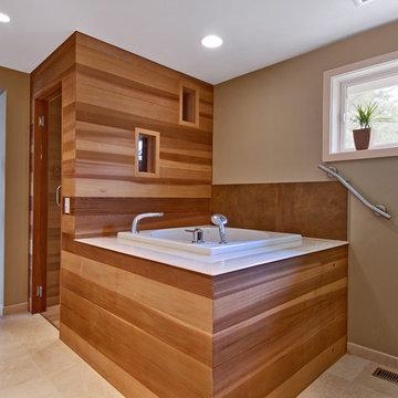 Spa Master Bath - Bellevue, WA