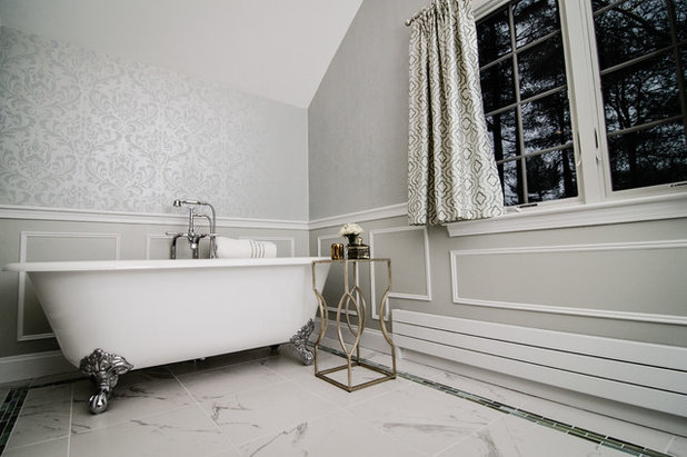 Traditional Bathroom by Megan Meyers Interiors