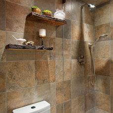 Rustic Bathroom by Studio D Interiors