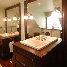 Traditional Bathroom by Square Footage Custom Kitchens & Bath Inc.