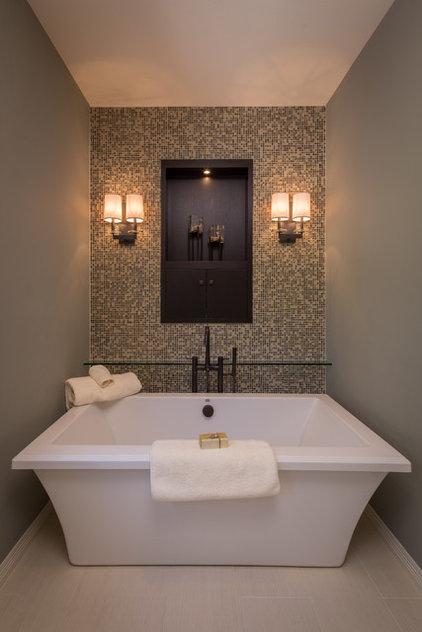 Transitional Bathroom by Aneka Interiors Inc.
