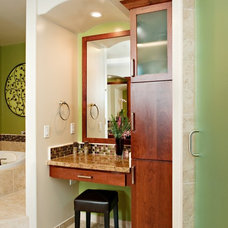 Transitional Bathroom by Morey Remodeling Group