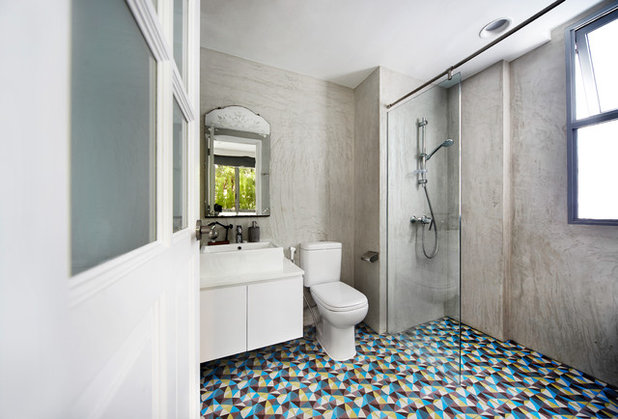 Industrial Bathroom by Free Space Intent