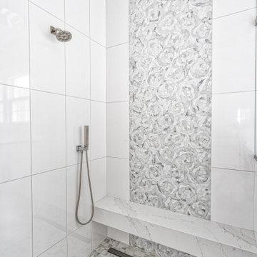 Spacious Curbless Shower