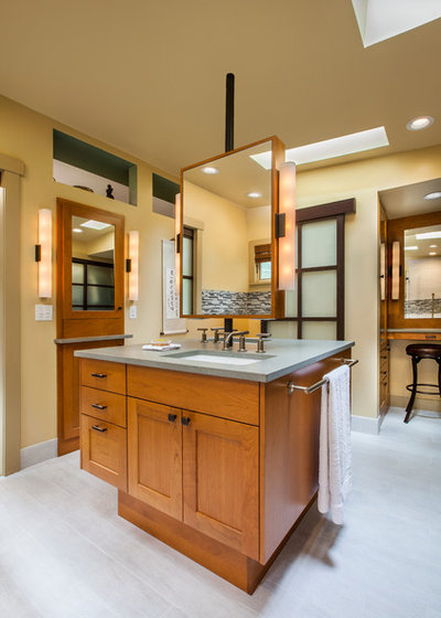 Traditional Bathroom by Angelini and Associates Architects