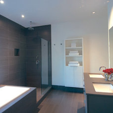 Modern Bathroom by Intexure Architects
