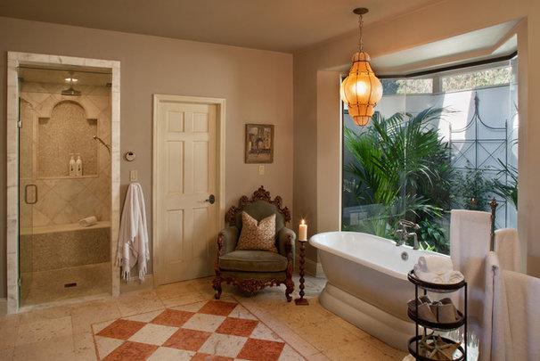 Mediterranean Bathroom by Wendy Black Rodgers Interiors