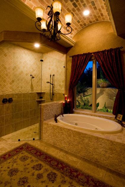 Mediterranean Bathroom by Jim Boles Custom Homes