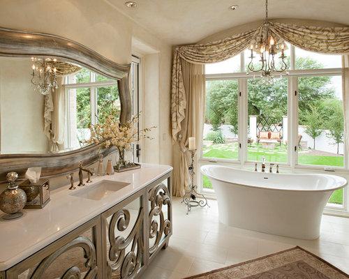 bad mediterran gardinen ideen bilder houzz. Black Bedroom Furniture Sets. Home Design Ideas