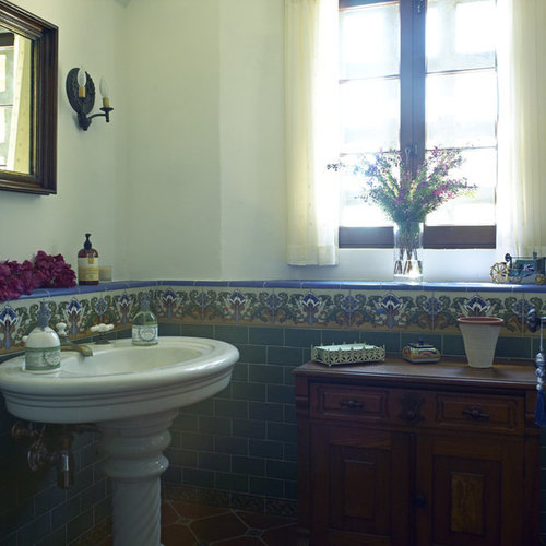 bathroom sink in spanish tile sinks home design ideas pictures remodel 16520